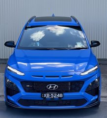 2021 Hyundai Kona Os.v4 MY21 N-Line D-CT AWD Premium Surfy Blue 7 Speed Automatic Wagon