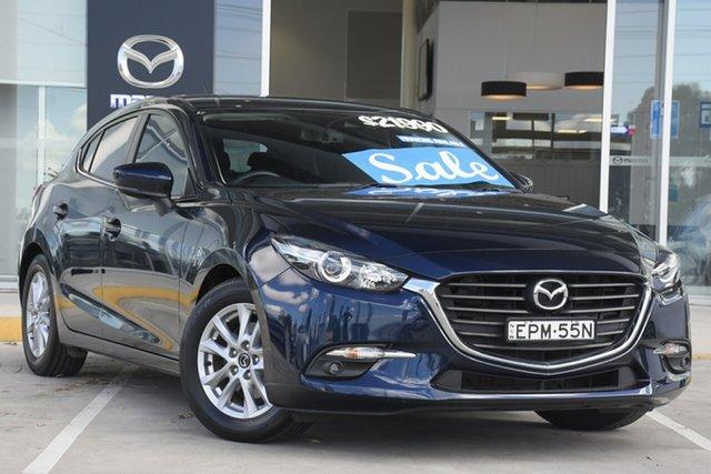 Used Mazda 3 BN5478 Maxx SKYACTIV-Drive Kirrawee, 2017 Mazda 3 BN5478 Maxx SKYACTIV-Drive Blue 6 Speed Sports Automatic Hatchback