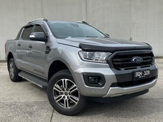 2021 Ford Ranger PX MkIII 2021.75MY Wildtrak Silver 10 Speed Sports Automatic Double Cab Pick Up.