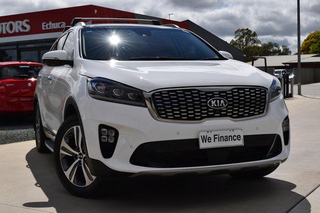 Used Kia Sorento UM MY18 GT-Line AWD Echuca, 2018 Kia Sorento UM MY18 GT-Line AWD Clear White 8 Speed Sports Automatic Wagon