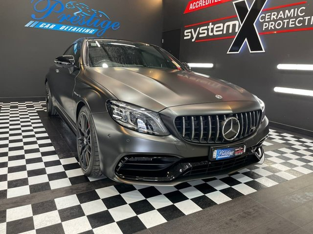 Used Mercedes-Benz C-Class Goulburn, 2021 Mercedes-Benz C-Class C63 AMG - S Grey Sports Automatic Coupe