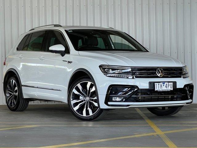 Used Volkswagen Tiguan 5N MY18 162TSI DSG 4MOTION Highline Moorabbin, 2018 Volkswagen Tiguan 5N MY18 162TSI DSG 4MOTION Highline White 7 Speed