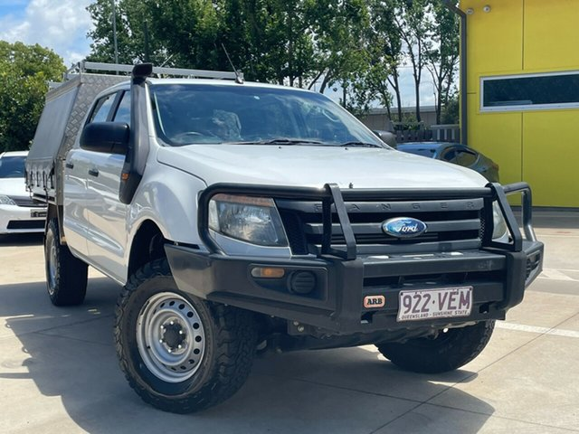 Used Ford Ranger PX XL Toowoomba, 2011 Ford Ranger PX XL White 6 Speed Manual Cab Chassis