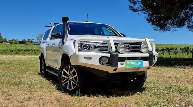 Used Toyota Hilux GUN126R SR5 Double Cab Nuriootpa, 2016 Toyota Hilux GUN126R SR5 Double Cab White 6 Speed Sports Automatic Utility