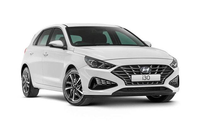 New Hyundai i30 Elite Cardiff, 2021 Hyundai i30 PD.V4 Elite Polar White 6 Speed Automatic Hatchback
