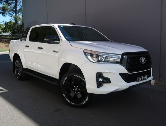 Used Toyota Hilux GUN126R Rogue Double Cab Reynella, 2019 Toyota Hilux GUN126R Rogue Double Cab White 6 Speed Sports Automatic Utility