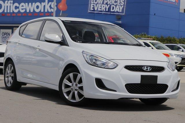 Used Hyundai Accent RB6 MY18 Sport Aspley, 2018 Hyundai Accent RB6 MY18 Sport White 6 Speed Sports Automatic Hatchback
