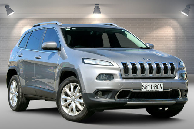Used Jeep Cherokee KL Limited Gepps Cross, 2014 Jeep Cherokee KL Limited Silver 9 Speed Sports Automatic Wagon
