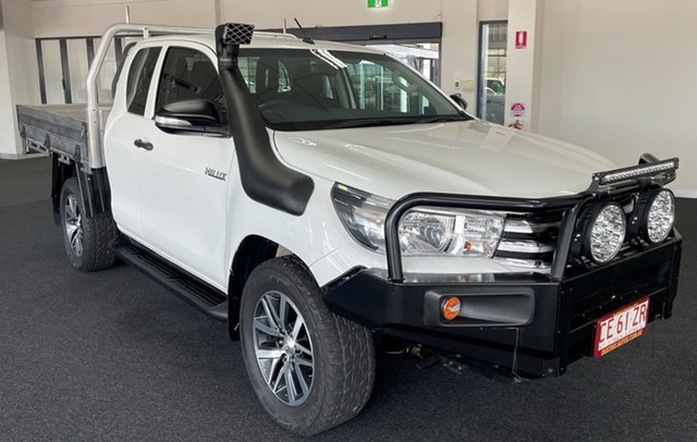 Used Toyota Hilux GUN125R Workmate Extra Cab Winnellie, 2016 Toyota Hilux GUN125R Workmate Extra Cab White 6 Speed Manual Cab Chassis