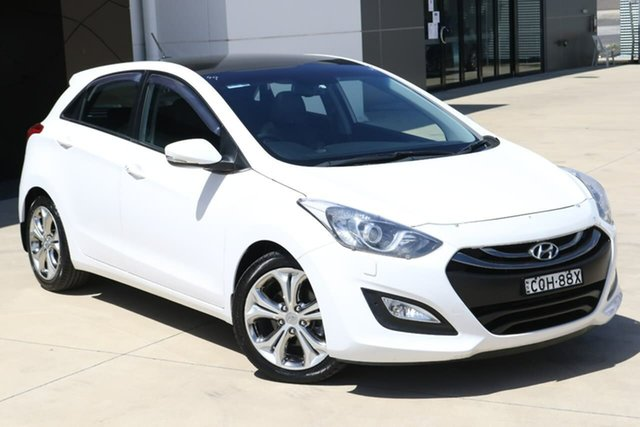 Used Hyundai i30 GD MY14 Premium Tuggerah, 2013 Hyundai i30 GD MY14 Premium White 6 Speed Sports Automatic Hatchback
