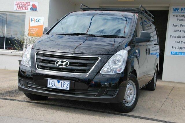 Used Hyundai iLOAD TQ MY15 Wendouree, 2015 Hyundai iLOAD TQ MY15 Black 6 Speed Manual Van