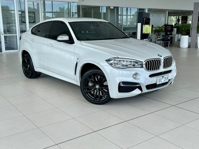 Used BMW X6 F16 M50d Coupe Steptronic Essendon Fields, 2017 BMW X6 F16 M50d Coupe Steptronic White 8 Speed Sports Automatic Wagon