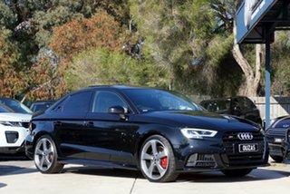 2020 Audi S3 8V MY20 S Tronic Quattro Black 7 Speed Sports Automatic Dual Clutch Sedan.