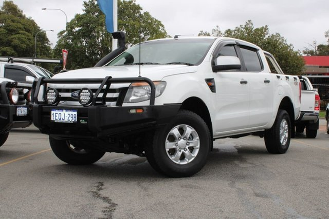 Used Ford Ranger PX XLS Double Cab Midland, 2014 Ford Ranger PX XLS Double Cab White 6 Speed Manual Utility
