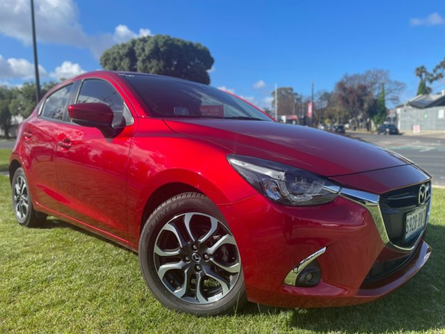 Used Mazda 2 DJ2HAA Genki SKYACTIV-Drive Hindmarsh, 2017 Mazda 2 DJ2HAA Genki SKYACTIV-Drive Soul Red Crystal 6 Speed Sports Automatic Hatchback