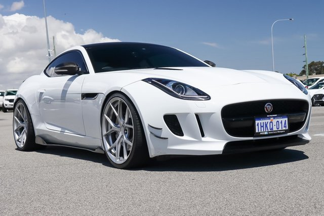 Used Jaguar F-TYPE X152 MY16 Coupe Wangara, 2015 Jaguar F-TYPE X152 MY16 Coupe White 8 Speed Sports Automatic Coupe