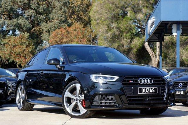 Used Audi S3 8V MY20 S Tronic Quattro Balwyn, 2020 Audi S3 8V MY20 S Tronic Quattro Black 7 Speed Sports Automatic Dual Clutch Sedan