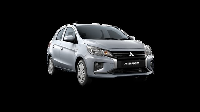 New Mitsubishi Mirage LB MY22 ES Hamilton, 2021 Mitsubishi Mirage LB MY22 ES Cool Silver 1 Speed Constant Variable Hatchback