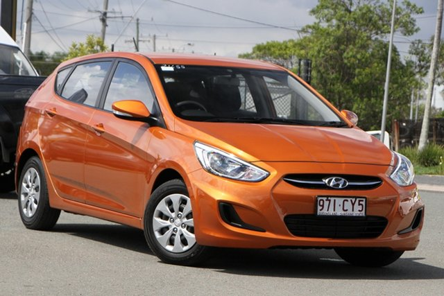 Used Hyundai Accent RB4 MY17 Active Rocklea, 2016 Hyundai Accent RB4 MY17 Active Vitamin C 6 Speed Constant Variable Hatchback