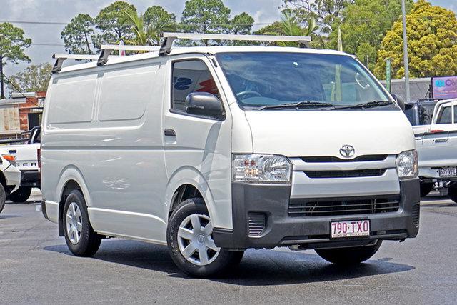 Used Toyota HiAce TRH221R MY14 High Roof Super LWB Chandler, 2014 Toyota HiAce TRH221R MY14 High Roof Super LWB White 5 Speed Manual Van