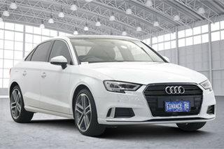2018 Audi A3 8V MY18 Sport S Tronic White 7 Speed Sports Automatic Dual Clutch Sedan.