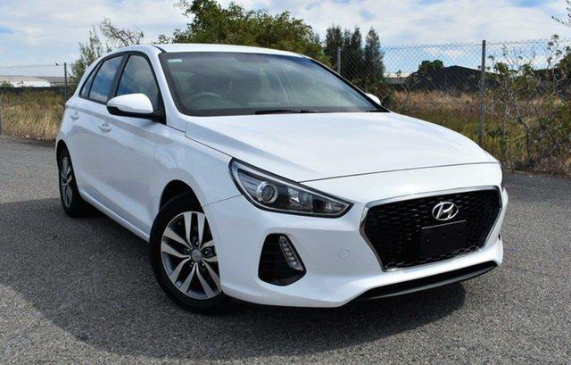 Used Hyundai i30 PD MY18 Active Ingle Farm, 2018 Hyundai i30 PD MY18 Active White 6 Speed Sports Automatic Hatchback