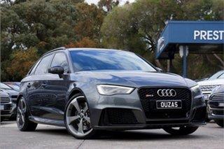 2016 Audi RS 3 8V MY16 Sportback S Tronic Quattro Grey 7 Speed Sports Automatic Dual Clutch.