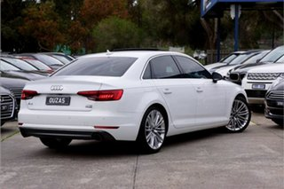 2016 Audi A4 B9 8W MY16 Sport S Tronic Quattro White 7 Speed Sports Automatic Dual Clutch Sedan