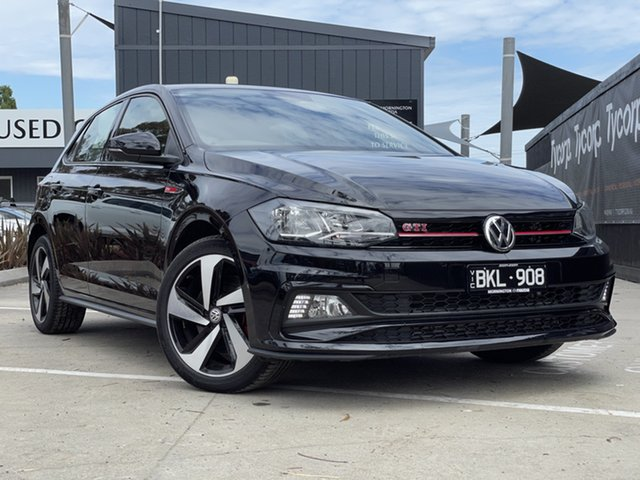 Used Volkswagen Polo AW MY20 GTI DSG Mornington, 2020 Volkswagen Polo AW MY20 GTI DSG Black 6 Speed Sports Automatic Dual Clutch Hatchback