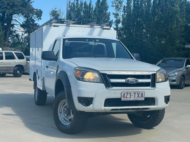 Used Ford Ranger PK XL Toowoomba, 2009 Ford Ranger PK XL White 5 Speed Manual Cab Chassis