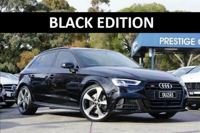 Used Audi S3 8V MY18 Black Edition Sportback S Tronic Quattro Balwyn, 2018 Audi S3 8V MY18 Black Edition Sportback S Tronic Quattro Black 7 Speed