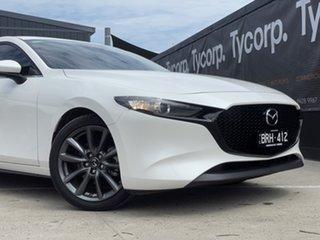2019 Mazda 3 BP2HLA G25 SKYACTIV-Drive GT White 6 Speed Sports Automatic Hatchback.
