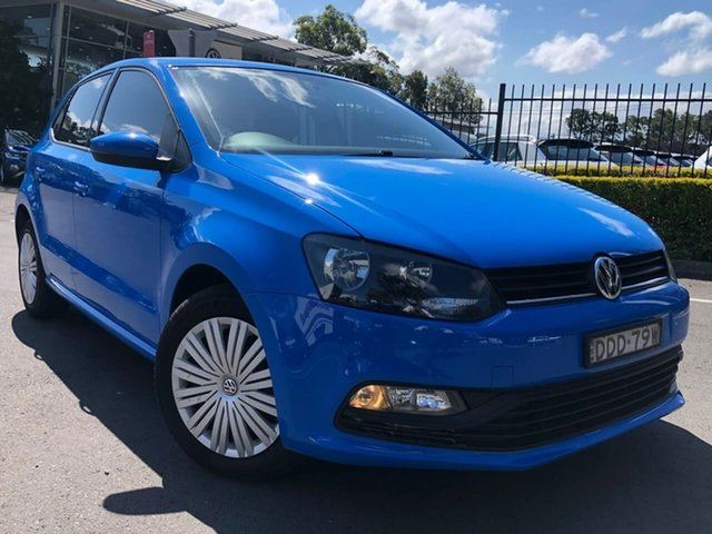 Used Volkswagen Polo 6R MY16 66TSI DSG Trendline Botany, 2015 Volkswagen Polo 6R MY16 66TSI DSG Trendline Blue 7 Speed Sports Automatic Dual Clutch Hatchback