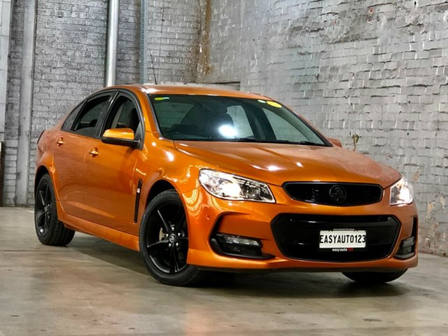 Used Holden Commodore VF II MY17 SV6 Mile End South, 2017 Holden Commodore VF II MY17 SV6 Orange 6 Speed Sports Automatic Sedan