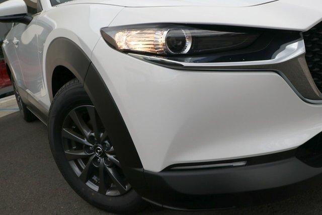 New Mazda CX-30 DM2W7A G20 SKYACTIV-Drive Pure Berri, 2021 Mazda CX-30 DM2W7A G20 SKYACTIV-Drive Pure Snowflake White Pearl 6 Speed Sports Automatic Wagon