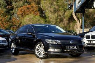 2016 Volkswagen Passat 3C (B8) MY17 140TDI DSG Highline Black 6 Speed Sports Automatic Dual Clutch.
