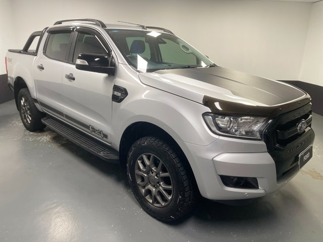 Used Ford Ranger PX MkII 2018.00MY FX4 Double Cab Rutherford, 2018 Ford Ranger PX MkII 2018.00MY FX4 Double Cab Ingot Silver 6 Speed Sports Automatic Utility
