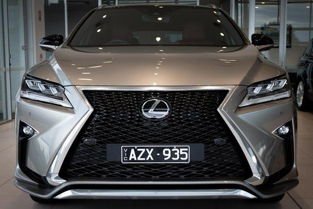 Used Lexus RX GGL25R RX350 F Sport Essendon Fields, 2019 Lexus RX GGL25R RX350 F Sport Silver 8 Speed Sports Automatic Wagon