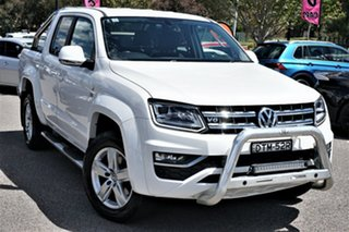 2017 Volkswagen Amarok 2H MY18 TDI550 4MOTION Perm Highline White 8 Speed Automatic Utility.