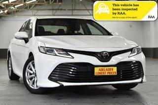 2018 Toyota Camry ASV70R Ascent White 6 Speed Sports Automatic Sedan.