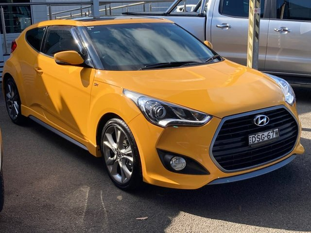 Used Hyundai Veloster FS5 Series II SR Coupe D-CT Turbo North Gosford, 2017 Hyundai Veloster FS5 Series II SR Coupe D-CT Turbo Yellow 7 Speed Sports Automatic Dual Clutch