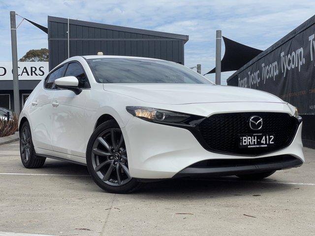 Used Mazda 3 BP2HLA G25 SKYACTIV-Drive GT Mornington, 2019 Mazda 3 BP2HLA G25 SKYACTIV-Drive GT White 6 Speed Sports Automatic Hatchback