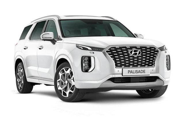 New Hyundai Palisade Highlander Cardiff, 2021 Hyundai Palisade LX2.V2 Highlander White Cream 8 Speed Automatic Wagon