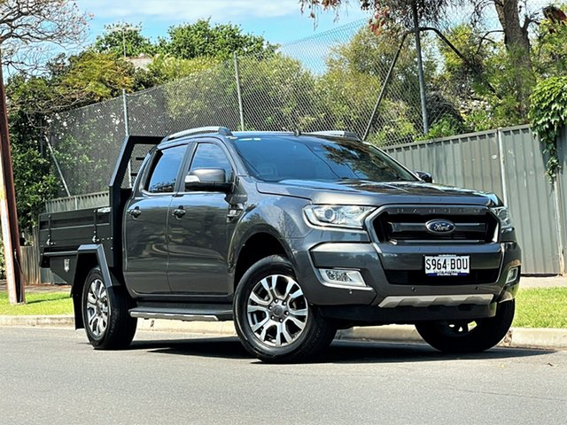 Used Ford Ranger PX MkII Wildtrak Double Cab Hyde Park, 2017 Ford Ranger PX MkII Wildtrak Double Cab Grey 6 Speed Sports Automatic Utility