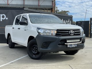 2019 Toyota Hilux TGN121R Workmate Double Cab 4x2 White 6 Speed Sports Automatic Utility.