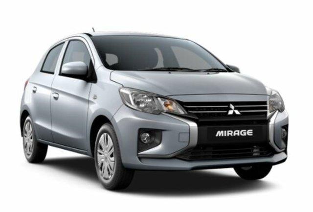 New Mitsubishi Mirage LB MY22 ES Atherton, 2021 Mitsubishi Mirage LB MY22 ES White 1 Speed Constant Variable Hatchback