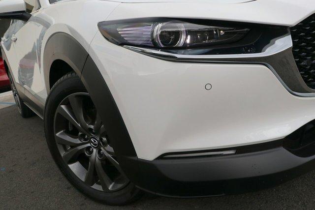 New Mazda CX-30 DM4WLA G25 SKYACTIV-Drive i-ACTIV AWD Astina Wollongong, 2021 Mazda CX-30 DM4WLA G25 SKYACTIV-Drive i-ACTIV AWD Astina Snowflake White Pearl 6 Speed