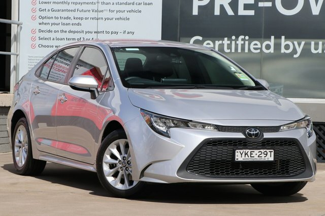 Pre-Owned Toyota Corolla Mzea12R SX Guildford, 2020 Toyota Corolla Mzea12R SX Silver Pearl 10 Speed Constant Variable Sedan