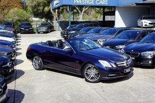 2011 Mercedes-Benz E-Class A207 E250 CGI Avantgarde Blue 5 Speed Sports Automatic Cabriolet