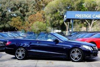 2011 Mercedes-Benz E-Class A207 E250 CGI Avantgarde Blue 5 Speed Sports Automatic Cabriolet.